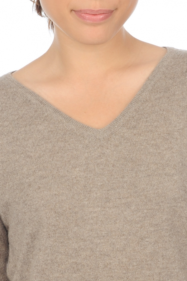 cashmere donna scollo a v anyka natural brown chine marmotta m