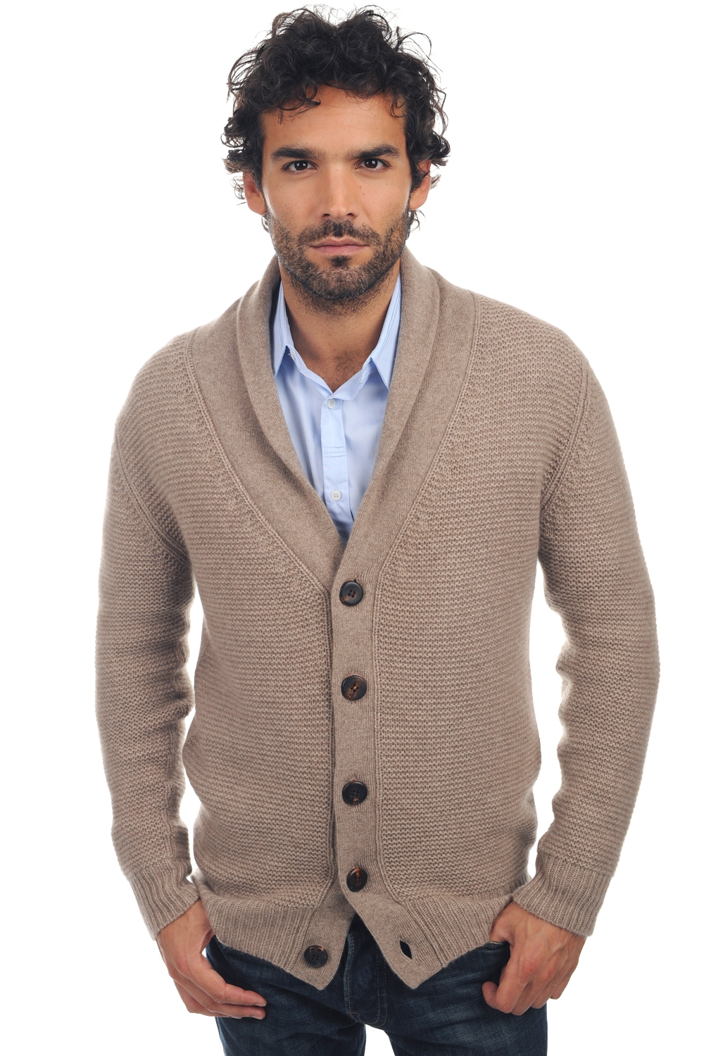 cashmere uomo maglie spesse maxwell natural brown chine xl